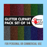 """14 Pack of Glitter Clipart Background 8.5""""x8.5"""""""