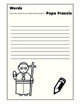 14 Page Activity book
