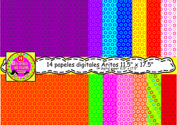 "14 Papeles digitales 11.5"" x 17.5"""