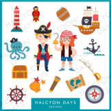 14 Pirate boy and girl clipart graphics for classroom crafts and decorations