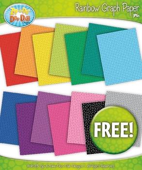 FREE 14 Rainbow Grid Graph Paper Set 2 Clipart