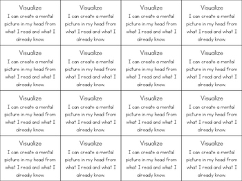 14 Reading Skills & Strategies Definition Cards