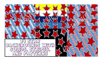 14 STAR BACKGROUNDS IMAGES- STRIPES AND SOLIDS