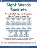 14 Sight Words Booklets to Support Barton* Students in Boo