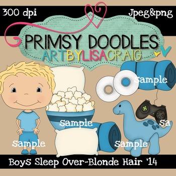 14-Sleep Over Boys-Blonde 300 dpi clipart