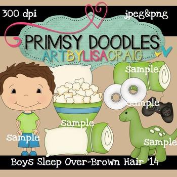 14-Sleep Over Boys-Brown 300 dpi clipart