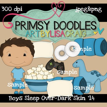 14-Sleep Over Boys-Dk Skin 300 dpi clipart