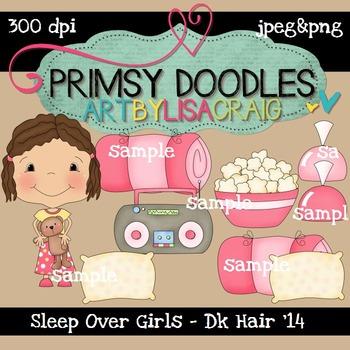 14-Sleep Over Girls-Brown 300 dpi clipart