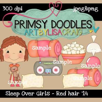 14-Sleep Over Girls-Red 300 dpi clipart