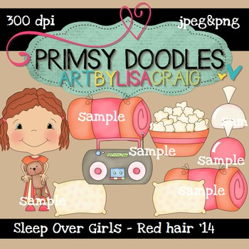 14-Sleep Over Girls-Red 300 dpi clipart