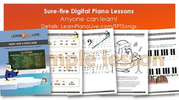 14-Song Most Popular Mega-Pack; Piano Lesson Bundle - 266 Pages!