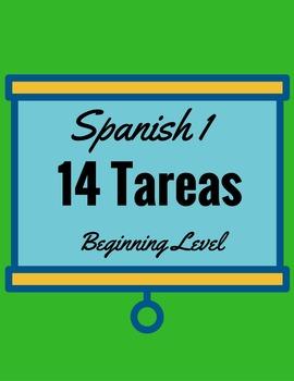 14 Spanish 1 Tareas!  Written Assignments
