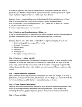 14 Step Unit Planning Template