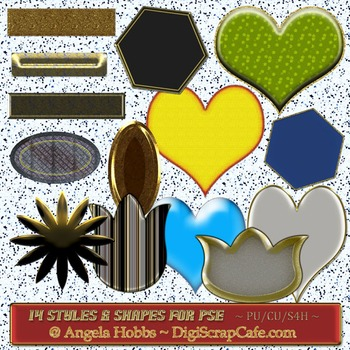 14 Styles & Shapes for PSE