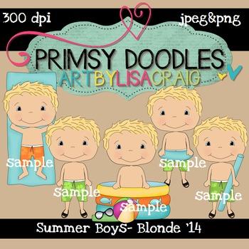 14-Summer Boys-Blonde 300 dpi clipart