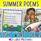 14 Summer Themed Sight Word Poems for Shared Reading (Poetry for New Readers)
