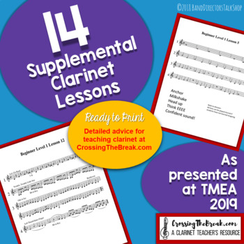 14 Supplemental Clarinet Lessons for Band
