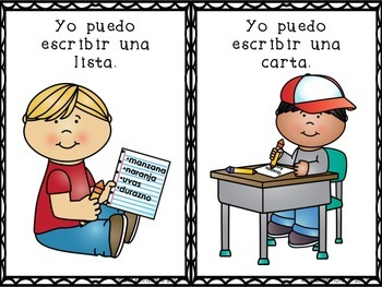 14 Task Cards for Writing Station/Tarjetas de trabajo para escritura (Spanish)