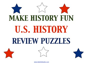 Hands on History-14 U.S. History Review Puzzles Plus 6 Puzzle Templates