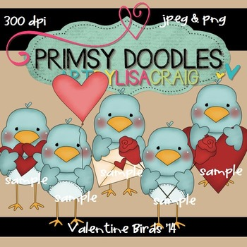 14-Valentine Birds 300 dpi clipart