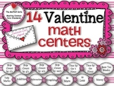 14 Valentine Math Centers (February Math Centers)