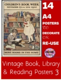 14 Vintage Library, Book and Reading Promotion Posters 3 -