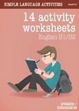 14 activity worksheet printables