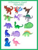 14 dinosaurs clipart