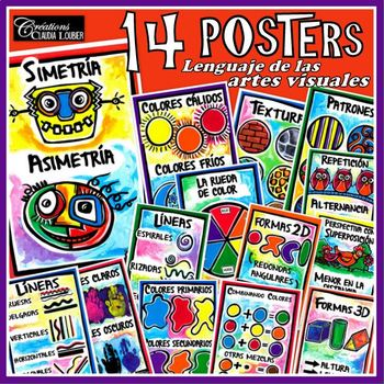 14 posters - Lenguaje de las artes visuales