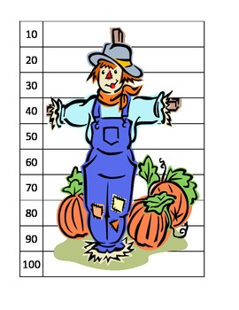 14 puzzles ESL math skip counting fall pumpkins scarecrow