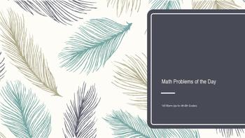 140 Challenging Daily Math WARM-UPS