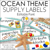 140 Classroom Supply Labels: Cool Blues and Greens/Ocean T