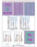 140 Grammar & Vocabulary Alphabetical Order Worksheet Book