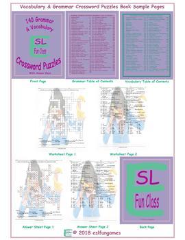 140 Grammar & Vocabulary Crossword Puzzles Book