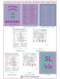 140 Grammar & Vocabulary Decoder Box Worksheet Book