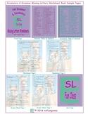 140 Grammar & Vocabulary Missing Letters Worksheet Book