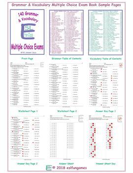 140 Grammar & Vocabulary Multiple Choice Exam Book