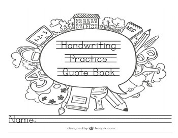 140 Tracing Handwriting Practice Copywork Quote Book Encourages Growth Mindset