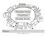 140 Tracing Handwriting Practice Copywork Quote Book Encou