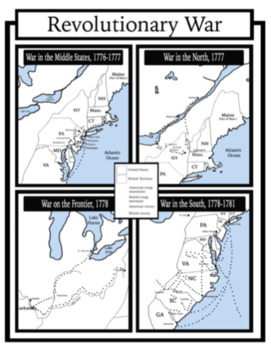 1400-1865: Blank US History Maps Package with Answer Key: Students Color