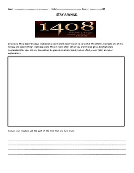 1408 by Stephen King Assignment