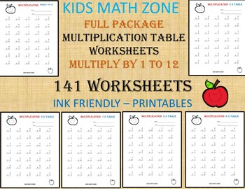 photograph relating to Printable Homework Chart known as 141 Multiplication Worksheets Printable. 2nd Quality toward 4th Quality Math. Math Chart