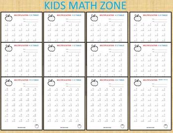 141 Multiplication Worksheets Printable. 2nd Grade to 4th Grade Math. Math Chart