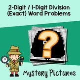 Short Division Word Problems, Two By One Digit Division Coloring Worksheets