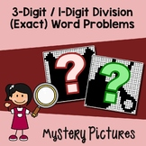 Worded Division Problems, One Digit By Three Digit Division Coloring Worksheets