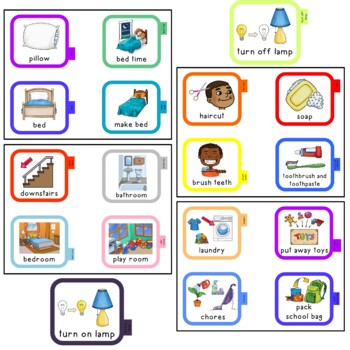 142 Portable visual cues for home. 2 sizes. Autism. Speech.