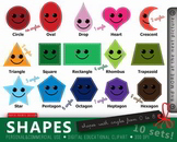 142 Smart Shapes Educational Clipart