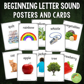 144 Beginning Letter Sound Posters and/or Cards