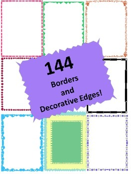 144 Borders and Decorative Edges!