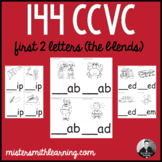 144 CCVC First 2 Letters (blends)